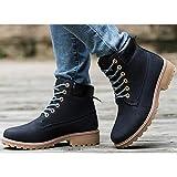 Zapatos de Mujer Otoño Invierno PU Confort botas botas de combate Chunky talón botines/Botines informales marrón amarillo negro