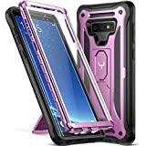 YOUMAKER Kickstand Case for Galaxy Note 9, Full Body with Built-in Screen Protector Heavy Duty Protection Shockproof Rugged Cover for Samsung Galaxy Note 9 (2018) 6.4 Inch - Purple
