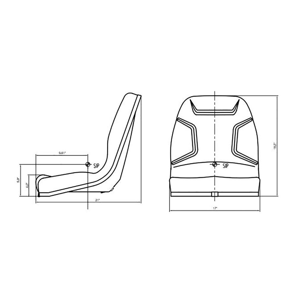34159 18400 New Kubota Tractor Heavy Duty Seat Assembly G1800 Wiring Diagram B1550 B1700 B1750 B20 Industrial Scientific