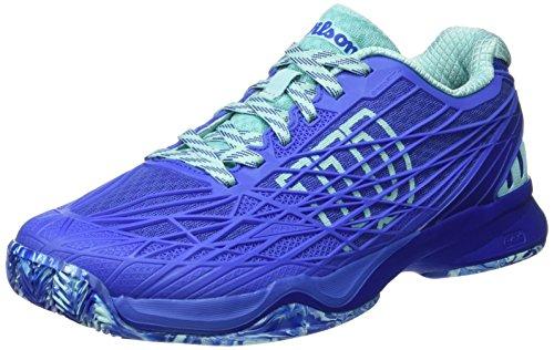 Wilson Wrs323430e075, Scarpe da Tennis Donna, Blu (Amparo Blue / Surf the Web / Aruba Blue), 41 1/3 EU