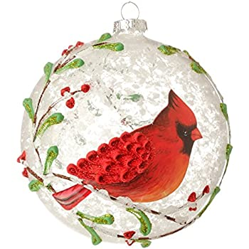 Amazon.com: Kurt Adler Noble Gems Glass Cardinal Christmas ...