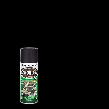 Rust-Oleum 1916-830 1916830 Camouflage Spray, Black, 12-Ounce