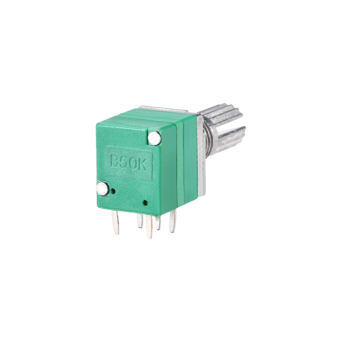uxcell Potentiometer with Switch B50K Ohm Variable Resistors Single Turn Rotary Carbon Film Taper RV097NS 5pcs