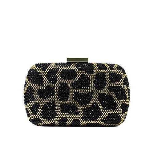 Love Moschino - Cartera de mano de sintético para mujer Multicolor leopardo, color Multicolor,