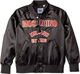 Moschino Kids Boy's Jacket w/Logo On Front (Big Kids) Black 10