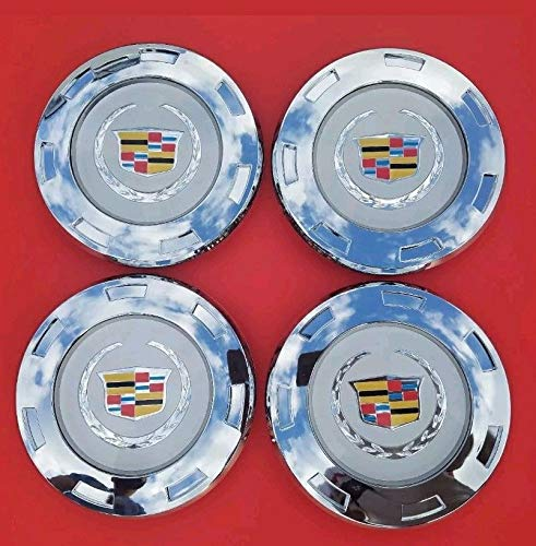 Tuesnut 2007-2014 Escalade ESV 2007-2013 Escalade EXT Wheel Center HUB Cap Colorful Crest Silver 7-Spoke 22'' Wheels ONLY Replace # 9596649 (4) by Tuesnut