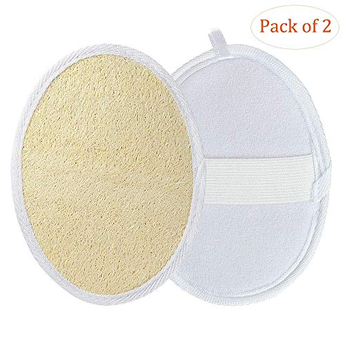 Loofa Sponges, Loofa Pads for Body, Shower Bath Scrubber Brush, Natural Luffa Terry Cloth Exfoliating Scrub Loofah Pads, Abrasive Exfoliator for Bath SPA Shower, Remove Dead Dried Skin for Men Women