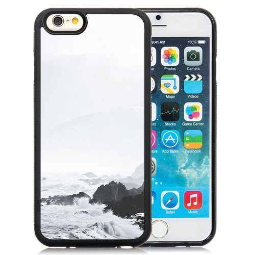 Disney Foamies (Personality customization Easy Use iPhone 6 4.7 inch Case Beach Foamy Storm Waves iOS 7 Wallpaper At J-15)