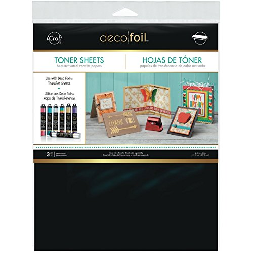 (iCraft Deco Foil Toner Sheets, 8.5 Inches x 11 Inches, Black)