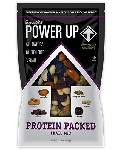 Power Up Trail Mix 100% Natural 8 Snack Bags Protein Packed, Antioxidant Mix, Almond Cranberry Crunch, Mega Omega by Gourmet Nut (Image #3)