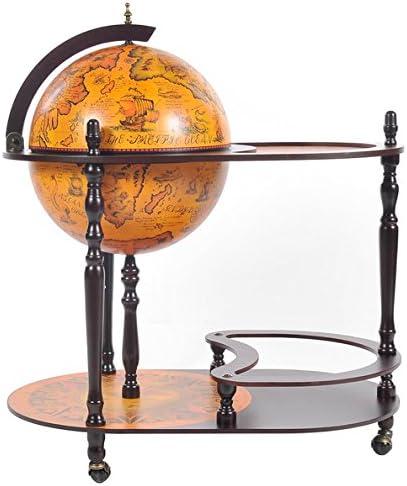 Old Modern Handicrafts Globe Drink Trolley, 16.5-Inch, Red