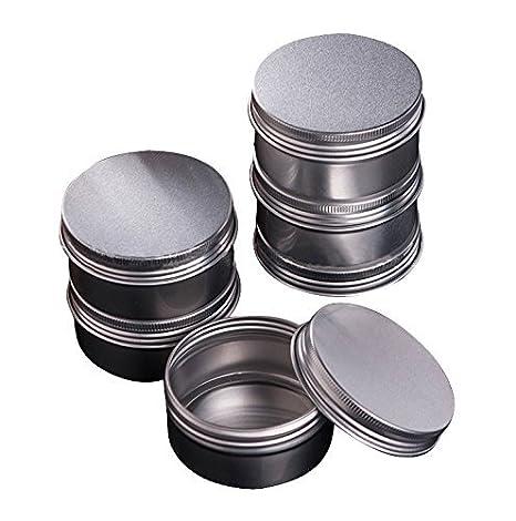 243f0d3d9c20 CTKcom Screw Top Round Steel Tins,Aluminum Tin Jars,4-Ounce 120 ML Gram  Jar, Cosmetic Sample Containers, For Lip Balm, Salve, Crafts, Cosmetic, ...