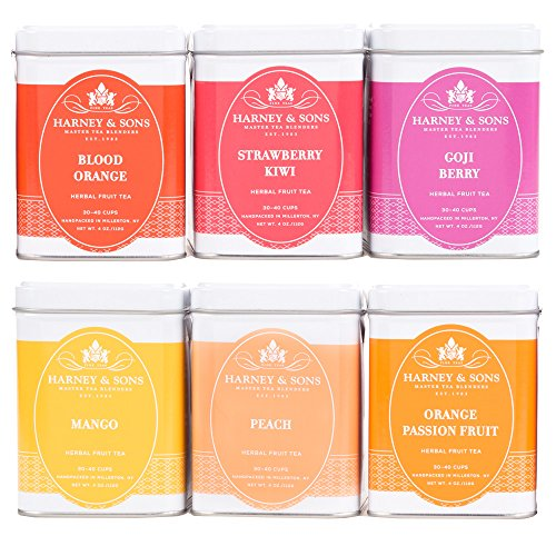 Harney & Sons Fruit Tea Sampler, Includes Six Different Flavors