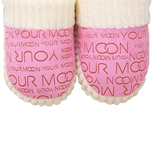 Sandalias para Mujer, RETUROM Lindo piso de las mujeres de algodón suave acolchado zapatos Rosa