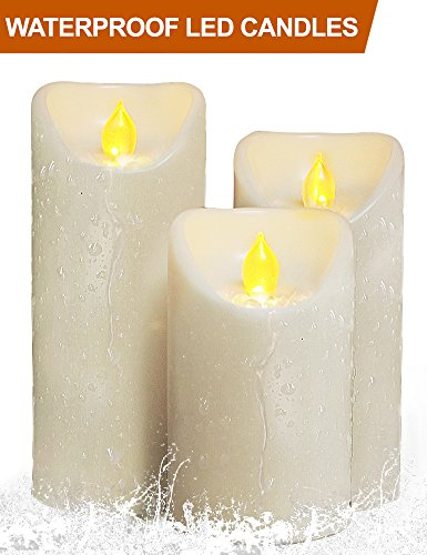 Outdoor Lighted Plastic Candles in US - 1