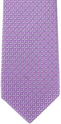 Lilac Summer Geo Silk Tie by Michelsons of London