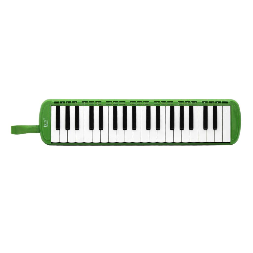 Flameer 37 Keys Harmonica Keyboard with Case, Melodica Best Musical Gift for Beginner Adults Children Kids - Green, 48 x 11 x 4.5cm
