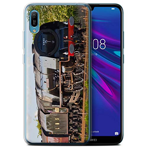 (eSwish Gel TPU Phone Case/Cover for Huawei Y6/Prime/Pro (2019) / Duchess Sutherland Design/Steam Locomotive Collection)