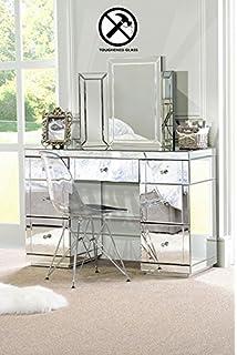 My Furniture Mirrored Bedroom Furniture Triple Folding Dressing