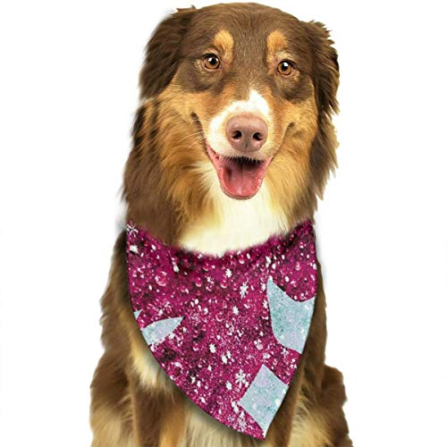 Dog Bandana Triangle Scarfs Puppy Bibs Accessories, Pink Cupid Anchor, for Dogs, Cats, Pet Birthday Party Gifts Supplies ()