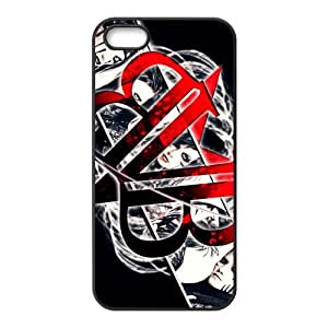 ROBIN YAM Black Veil Brides Hard Rubber Coated Phone Cover Case for iPhone 5 / 5S -BRY243