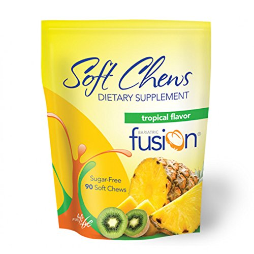 Bariatric Fusion Dietary Multivitamin Supplement Soft Chews Tropical for Gastric Bypass and Sleeve Gastrectomy, 90 count