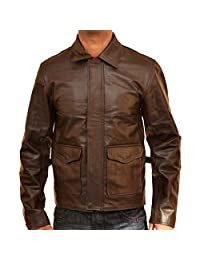 New York Lambskin Leather Indiana Jones Leather Brown Jacket