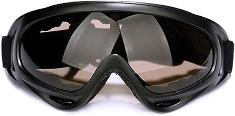 Andux Zone Protezione UV400 Schiuma Imbottita Cinque Equitazione di Sicurezza Tactical Goggles//Moto Occhiali anti-vento anti-Luce Solare Anti-Sand GL-04