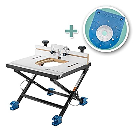 Rockler convertible benchtop router table with insert plate kit for rockler convertible benchtop router table with insert plate kit for compact routers greentooth Images