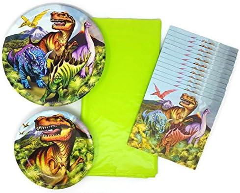 Dinosaurio cumpleaños platos y servilletas Conjunto De 4 ...