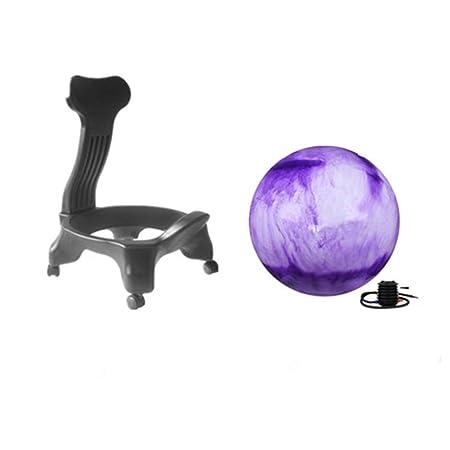 Wly&home Silla de balón de Equilibrio, Silla de Escritorio de Bola ...