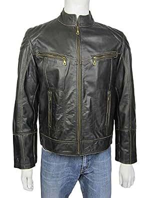 Botas HARLEY-DAVIDSON CLINT negro moto autentico cuero autentica piel talla 40