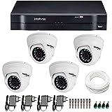 Kit 04 Câmeras de Segurança Dome Hd 720p Intelbras Vmd 1010g3 + Dvr Intelbras Multi Hd + Acessórios
