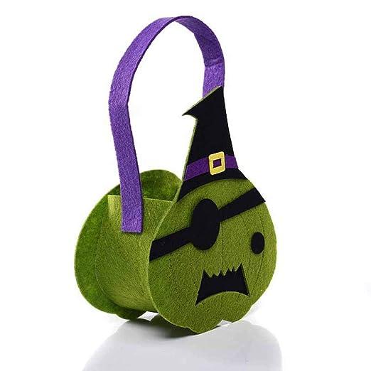zhangfuhe 10PCS Bolsas de Calabaza de Halloween Truco o ...