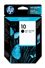 HP 10 Black Ink Cartridge (C4844A) for HP 2500 2000 HP Business InkJet 1000 1100 1200 2300 2600 2800 HP DesignJet 70 100 110 500 800 815 820 HP OfficeJet 9110 9120 9130. HP 10 ink cartridges work with: HP 2500, 2000. HP Business InkJet 1000, ...