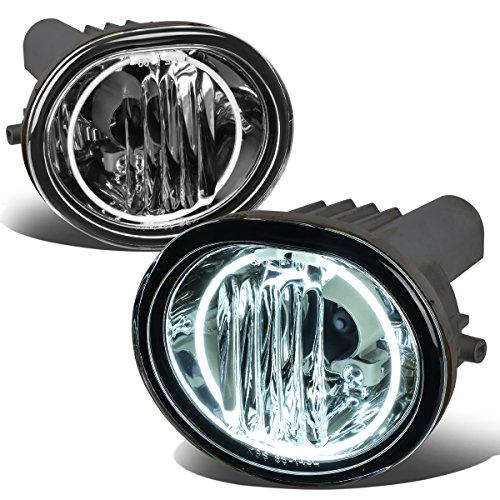 (For Scion TC Pair of Bumper Halo Ring Fog Lights+CCFL Power Inverter (Chrome Lens))