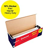 "Ultra-Thick Heavy Duty Household Aluminum Foil Roll (12"" x 300"") with Sturdy Corrugated Cutter Box - Heavy Duty Food Safe Cling Wrap - Best Kitchen Wraps for Covering Leftover Foods & Baking"