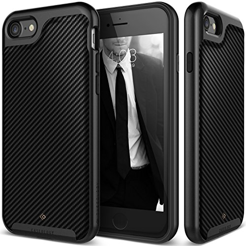Caseology Envoy Series iPhone 8/7 Cover Case with Leather Slim Protective for Apple iPhone 7 (2016)/iPhone 8 (2017) - Matte Black