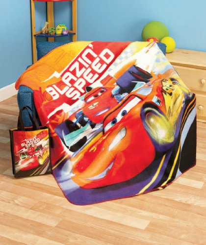 Cars Plush Throw with Matching Gift Bag