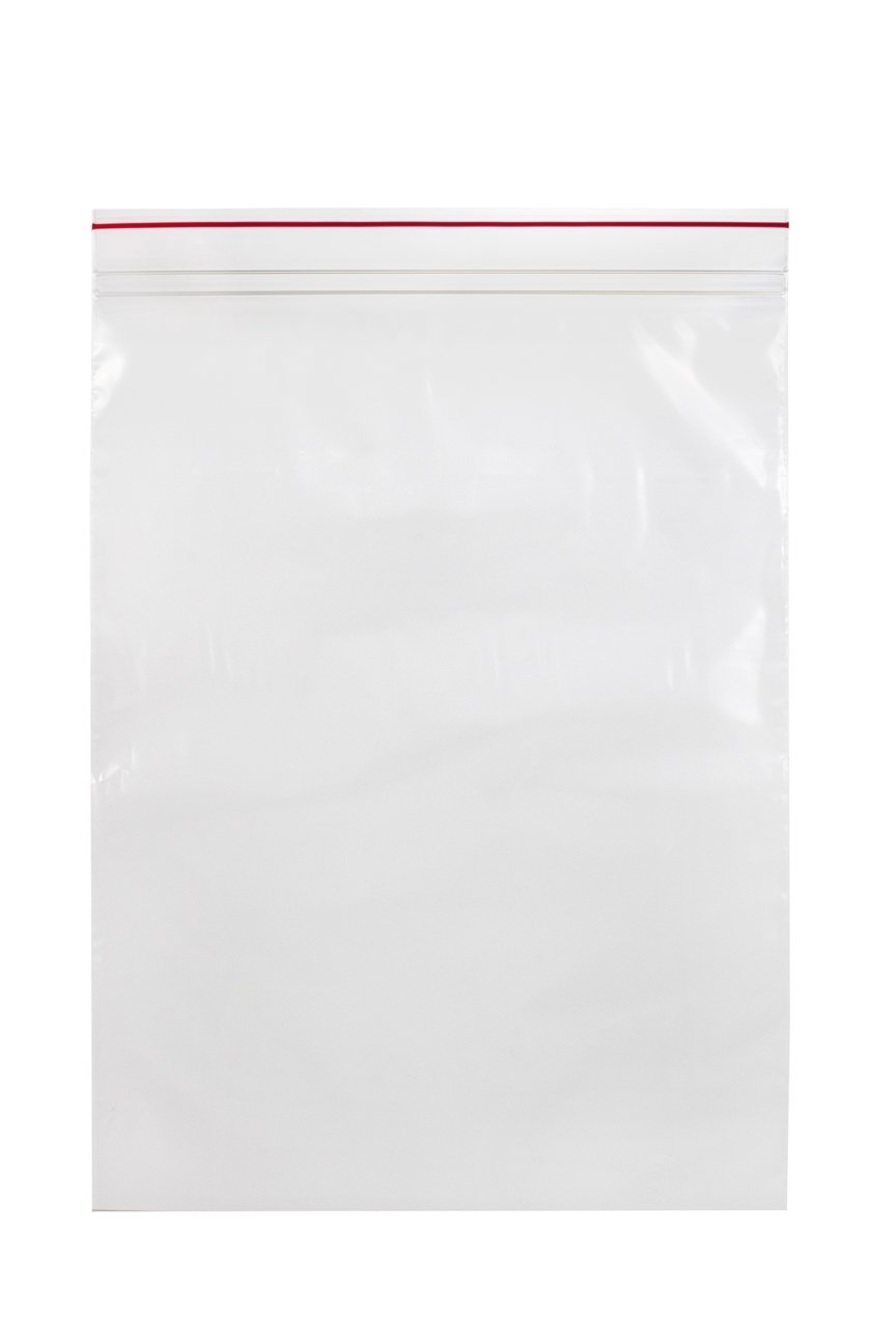 Minigrip Red Line MGRL2P1013 Polyethylene (LDPE/LLDPE Blend) Clear Reclosable Bag, 13'' Length, 12'' Width (Pack of 1000) by Minigrip Red Line