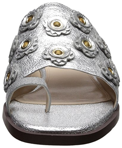Cole Haan Donna Carly Floreale Sandalo Argento Crackle Metallico