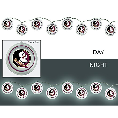 Florida State Seminoles Led - Team Sports America Florida State University Outdoor Safe Battery Powered String Light Set