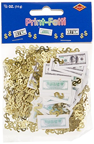Big Bucks Print-Fetti Party Accessory (1 count) (.5 Oz/Pkg)