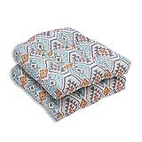 Pillow Perfect Outdoor/Indoor Eresha Oasis Wicker Seat Cushion (Set of 2)