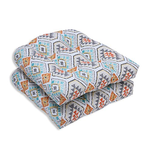 Pillow Perfect Outdoor/Indoor Eresha Oasis Wicker Seat Cushion (Set of 2) ()