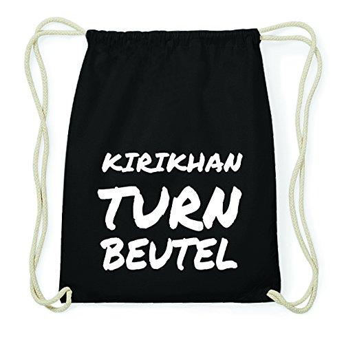 JOllify KIRIKHAN Hipster Turnbeutel Tasche Rucksack aus Baumwolle - Farbe: schwarz Design: Turnbeutel EqoTPMhiXY