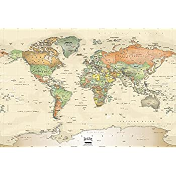 Academia maps world map wall mural antique ocean political map academia maps world map wall mural antique ocean political map premium self gumiabroncs