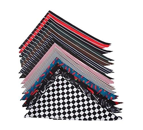 Nanxson(TM) Chefs Scarf Neck Tie Kitchen BBQ Cooking Baking Bar Neck Wear Neckerchief CF9001 pack of 5 (with patterns)