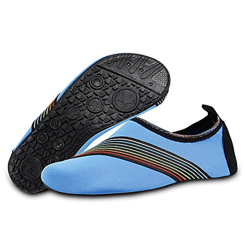 Surf Swim Aqua and Yoga Beach for Womens Sd Barefoot blue Water Exercise Dry Quick Shoes Socks Kids Mens gwxd7O8