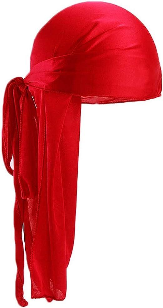 HLifuz Delicated 13 Colori Unisex Coda Lunga Durag Seta Pirata Cappello Solido Colore Cancro Chemio Cappello Accessori per Capelli